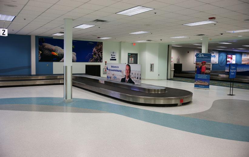 Terrazzo Flooring at Orlando Melbourne Airport Terminal