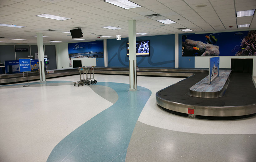 Airport design with terrazzo flooring