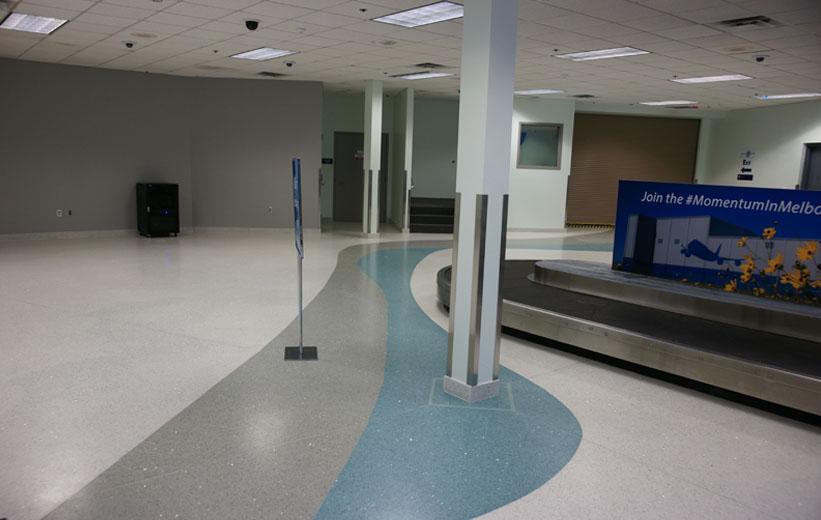 Orlando Melbourne Airport Terrazzo Flooring Installation