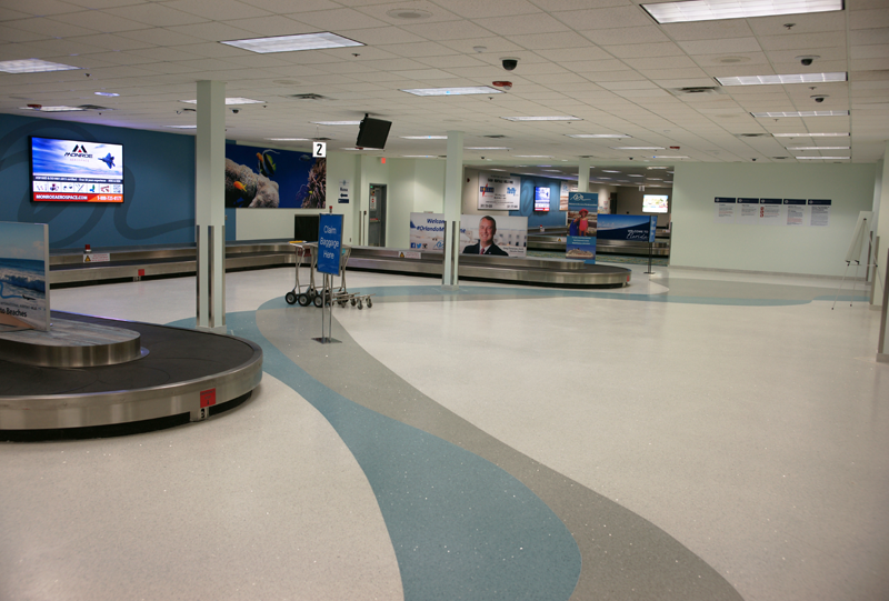 Orlando Melbourne International Airport Terrazzo Flooring Installation