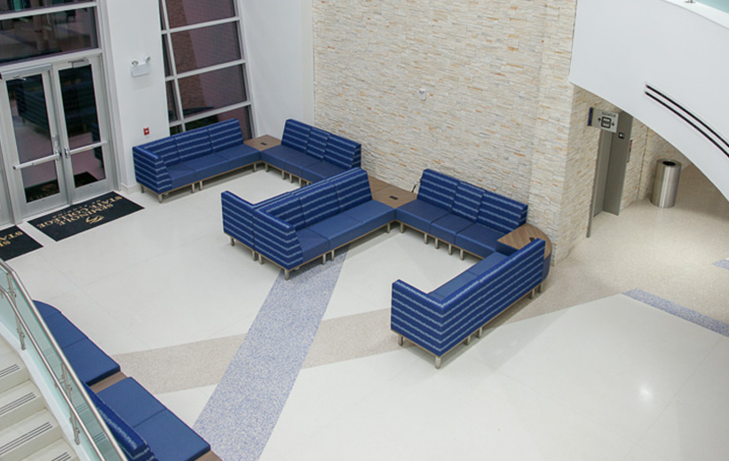 Seminole State College Terrazzo Flooring at Main Entrance