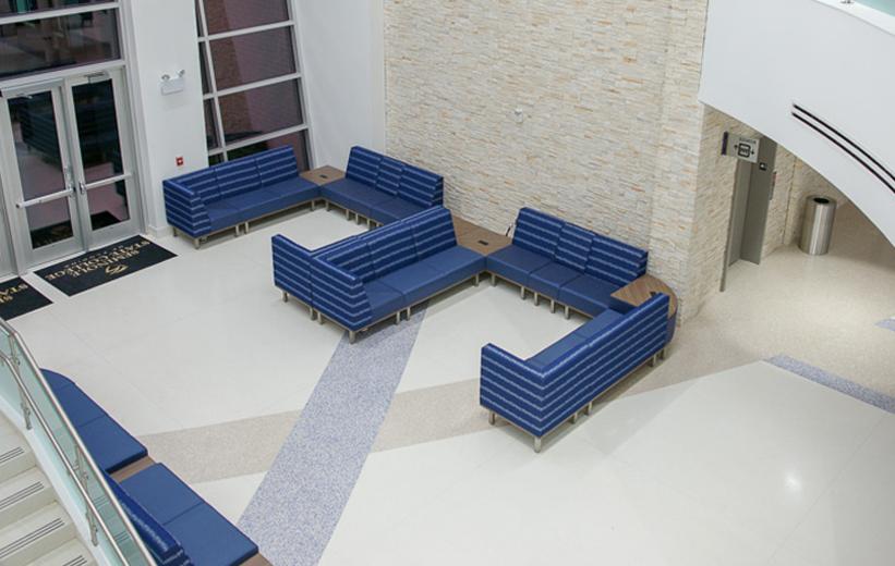 Seminole State College Terrazzo Flooring at Main Entrance
