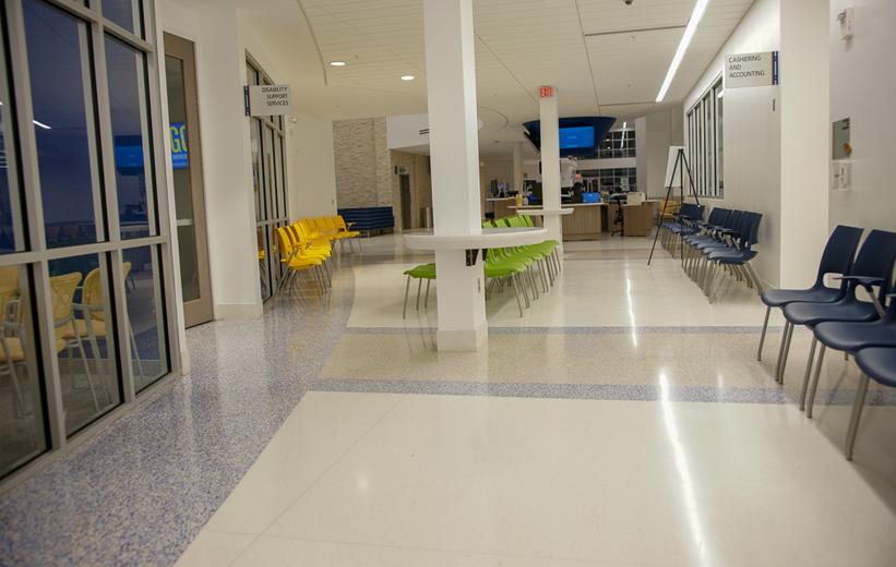 Seminole State College Epoxy Terrazzo Installation