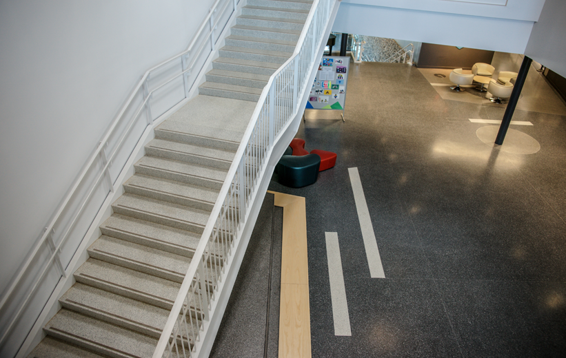 Terrazzo Installation at Bluestone Elementary School