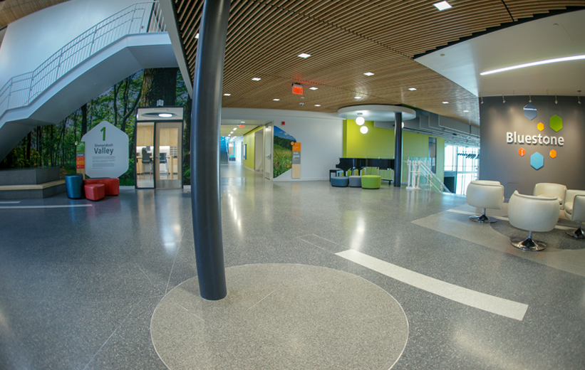 Terrazzo Floor at Bluestone Elementary School