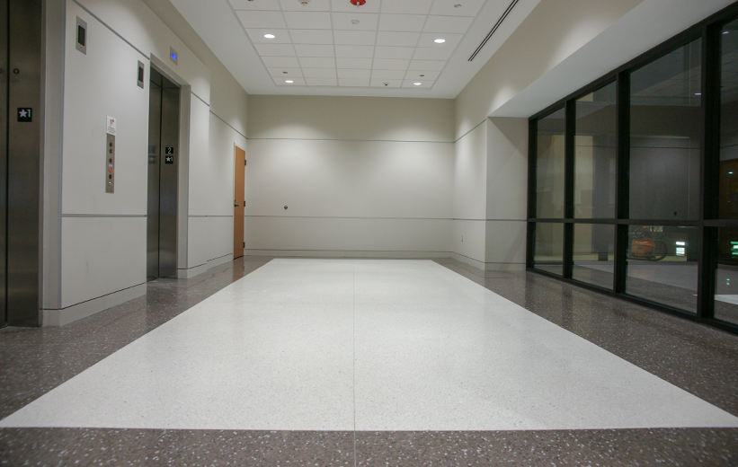 Catawba County Justice Center White Terrazzo Flooring Installation