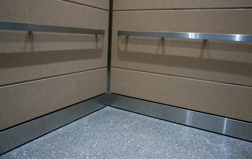 Epoxy terrazzo flooring in Elevator