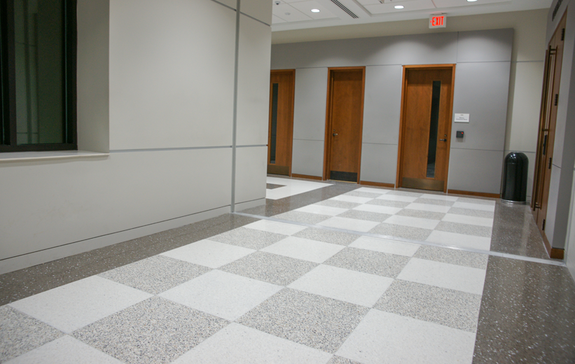 Catawba County Justice Center Terrazzo Design