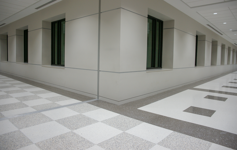 Catawba County Justice Center Terrazzo Flooring
