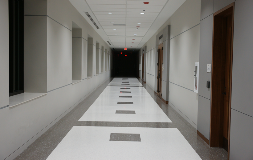 Terrazzo flooring at Catawba County Justice Center