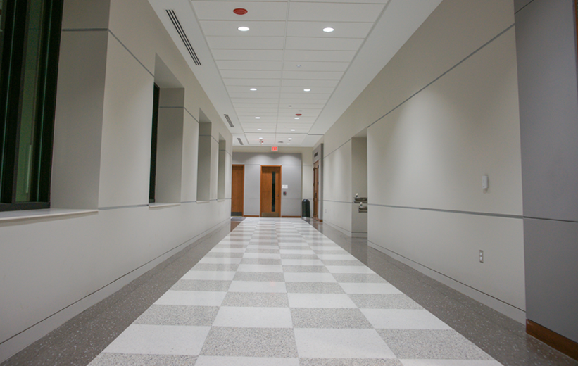 Checkerboard Terrazzo Design at Catawba County Justice Center