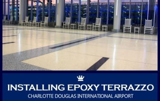 Installing Epoxy Terrazzo at Charlotte Douglas International Airport