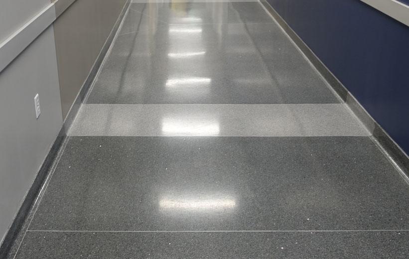 Durham Police Headquarters Terrazzo Flooring in Hallway