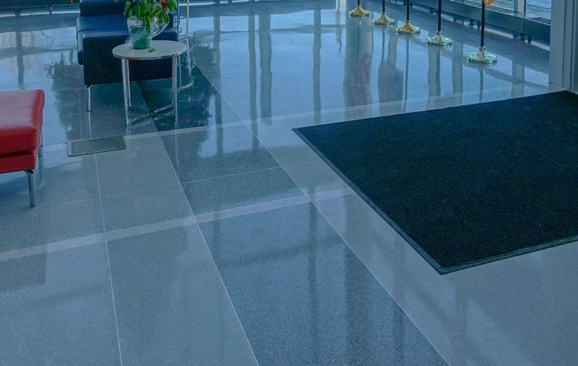 Durham Police Headquarters Epoxy Terrazzo Floor