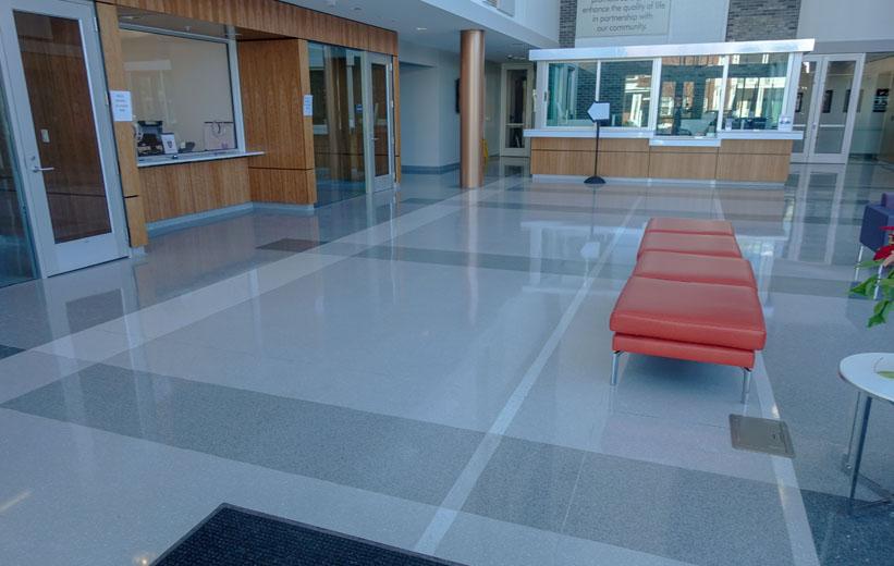 Durham Police Headquarters Epoxy Terrazzo Flooring